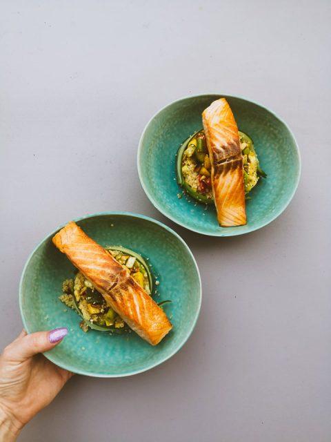 couscous met zalm