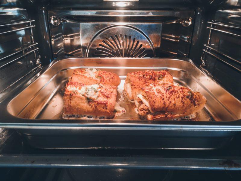 Garlic chicken sandwich uit de oven