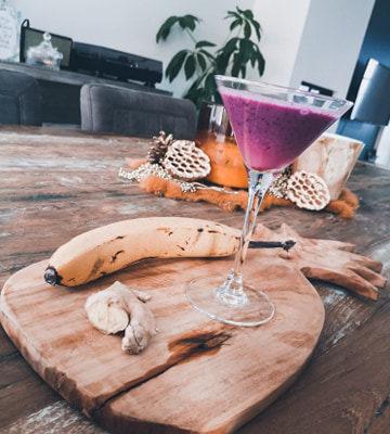 Summerfeelings met deze smoothie met blauwe bessen, gember en banaan!